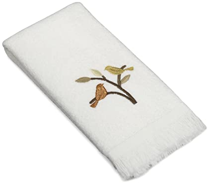 Amazoncom Avanti Linens Friendly Gathering Fingertip Towel White