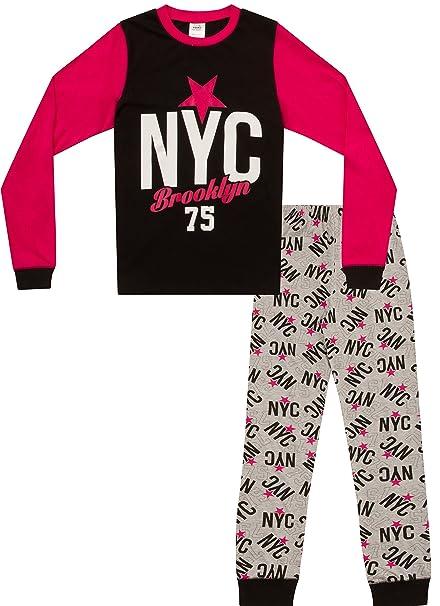 thepyjamafactory - Pijama - para niña Negro Negro 9 años