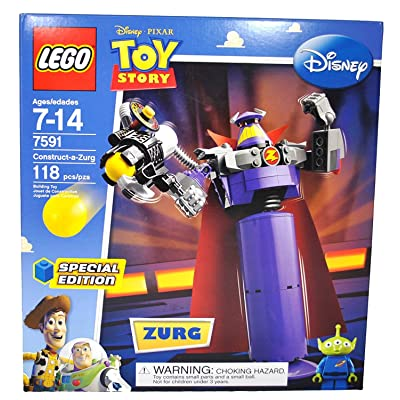 Lego Special Edition Disney Pixar Movie Toy Story Series Set #7591 - Construct-a-Zurg with Rotating Waist and Sphere-Shooting Cannon and Alien Minifigure (Total Pieces: 118): Toys & Games