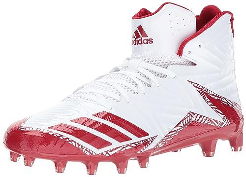 new product 250ed f60eb Adidas Freak X Carbon Mid - Zapatillas de fútbol para Hombre, Blanco, Rojo (