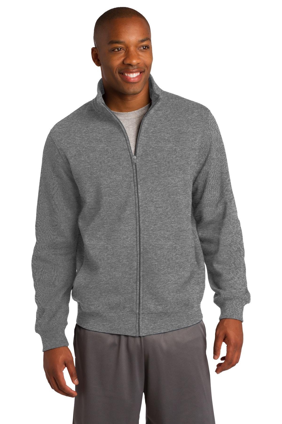 Sport-Tek Men's Full Zip Sweatshirt,X-Small,Vintage Hthr