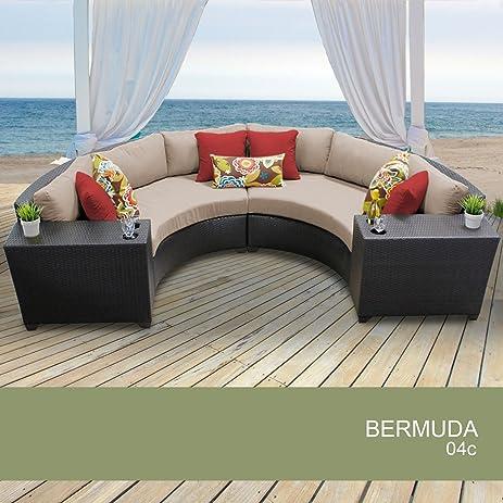 Superieur Bermuda 4 Piece Outdoor Wicker Patio Furniture Set 04c