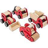 Ultrakidz - Set de 4 vehículos de construcción de madera