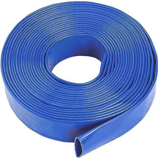 Thorne Azul Layflat Agua Manguera de Descarga Bomba riego – 32 mm (1 1/4 pulg.) Orificio x 50 Metros de Largo: Amazon.es: Jardín