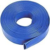 "Blue Layflat Water Discharge Hose Pipe Pump Irrigation - 38mm (1 1/2"") Bore x 30 Metres Long"
