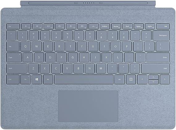 Microsoft Surface Pro Type Cover Eisblau (QWERTZ Keyboard) LT - Carcasa de Teclado Azul Claro