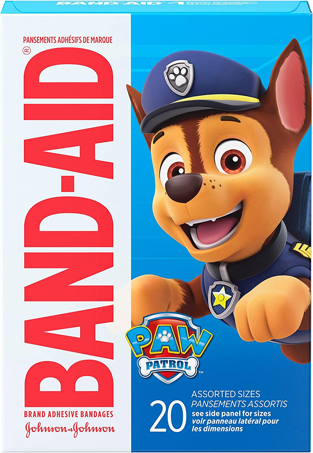 Amazon Com Band Aid Brand Adhesive Bandages For Minor Cuts Scrapes Wound Care Featuring Nickelodeon Paw Patrol Characters For Kids And Toddlers Assorted Sizes 20 Ct Health Personal Care