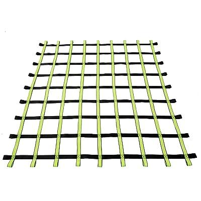 Fong 8 ft X 8 ft Climbing Cargo Net Black & Green- Playground Cargo Net - Outdoor Climbing Net for Kids - Climbing Net for Swingset: Sports & Outdoors