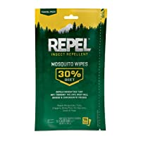 Deals on Repel Insect Repellent Mosquito Wipes 30% DEET, 15-Count