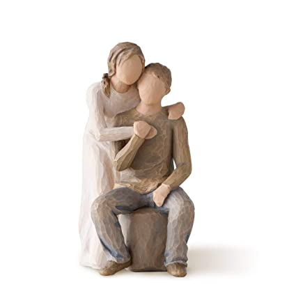 Resina Enesco Figurillas Decorativas con dise/ño Willow Tree 21 x 1.1 cm