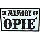 Patch Squad Men's In Memory of Opie/Jax Outlaw Embroidered Military Biker Patch