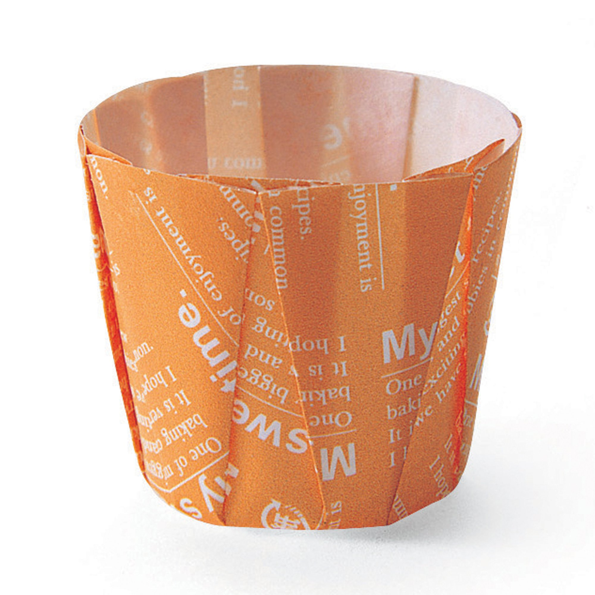 Welcome Home Brands Pleated Baking Cups, Orange Small, 1.4''d x 1.8''h, Case/500