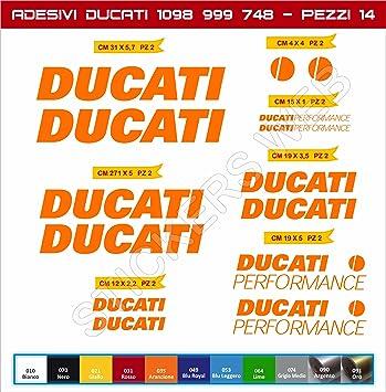 Pegatinas Ducati Performance para motos Ducati 748 / 848 / 999 / 1098, etc.