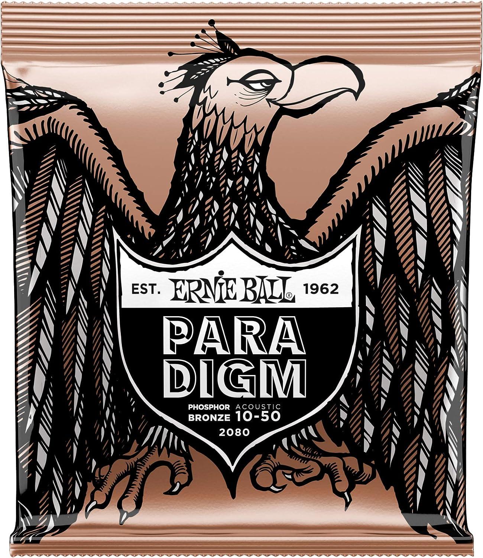 Cuerdas de guitarra acústica de fósforo extrafino Ernie Ball Paradigm Light - 10-50 Gauge