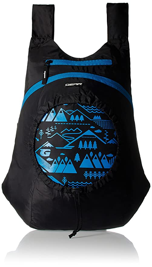 GEAR Black and Blue Kids Backpack (3-5 years old)  Amazon.in  Bags ... cbf4ed7f54626