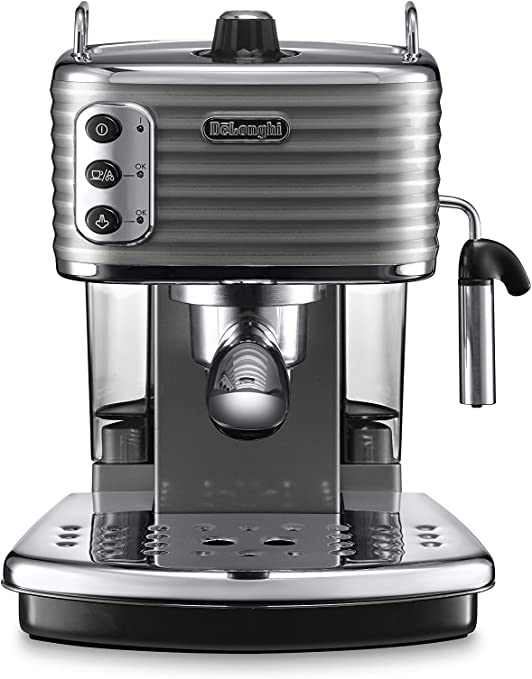 DeLonghi ECZ351.G Cafetera de goteo, Semi-automática, Independiente, 1.4 L, 15 bares, 2 tazas, acero inoxidable, gris: Amazon.es: Informática