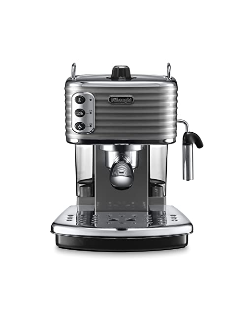 DeLonghi ECZ351.G Cafetera de goteo, Semi-automática, Independiente, 1.4 L, 15 bares, 2 tazas, acero inoxidable, gris