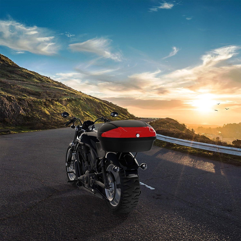 Dimensione: 59,5 x 43,5 x 31 cm Todeco with Back Pad 52 Litri Materiale: PP Valigia Per Moto Bauletto Moto Nero