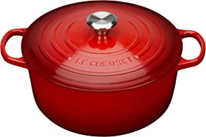 Le Creuset Enameled Cast Iron Signature Round Dutch Oven, 7.25 qt., Cerise