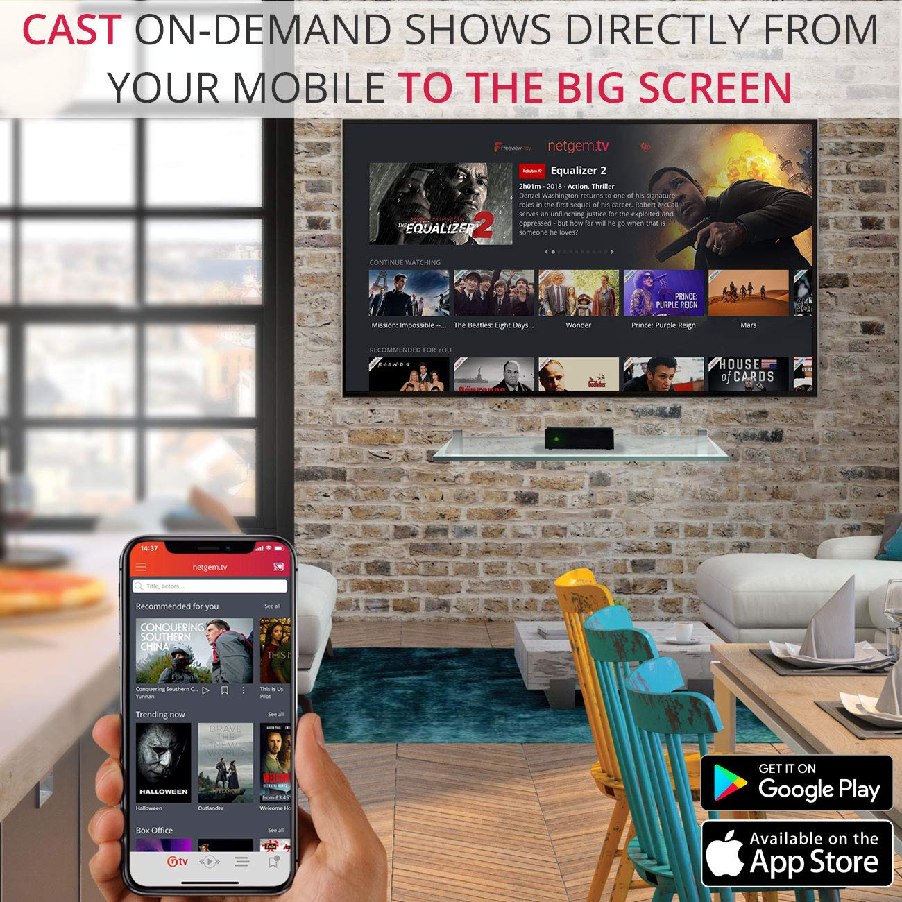 Netgem NetBox: TV box Freeview HD Live Channels, Freeview Play built-in and  Streaming Apps