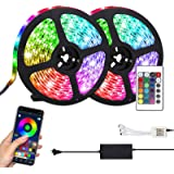 LED Strip Lights, Attuosun 32.8feet/10M RGB LED Strips Flexible Color Changing 300LEDs 5050 Waterproof Rope Lights with…