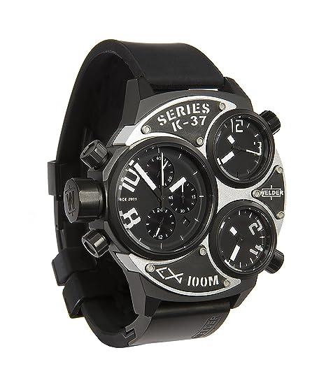 Welder K37-6502 - Reloj para hombres, correa de goma color negro