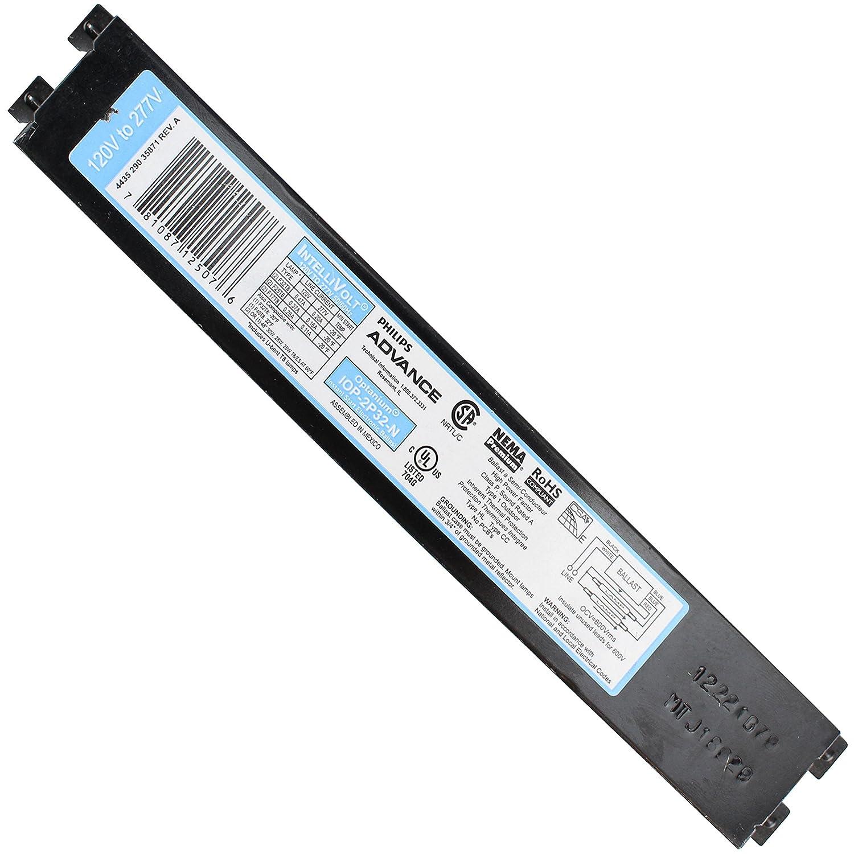 Advanced IOP-2P32-N Electronic Fluorescent Ballast T8 2 Lamp 120//277V 32W