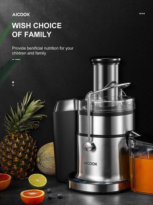 Anti-Drip AICOOK 800W Juice Extractor with 5 Settings Juicer BPA ...