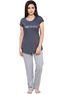 9091cf1e6ce Boring Dress Hosiery (Cotton Knitted) Top and Pajama Set Night Suit Nighty