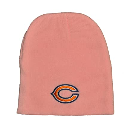 dbb879803a9 Amazon.com   Chicago Bears Pink Skull Cap - NFL Cuffless Winter Knit ...