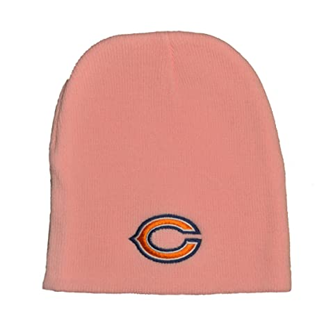 Amazon.com   Chicago Bears Pink Skull Cap - NFL Cuffless Winter Knit ... 221de0750