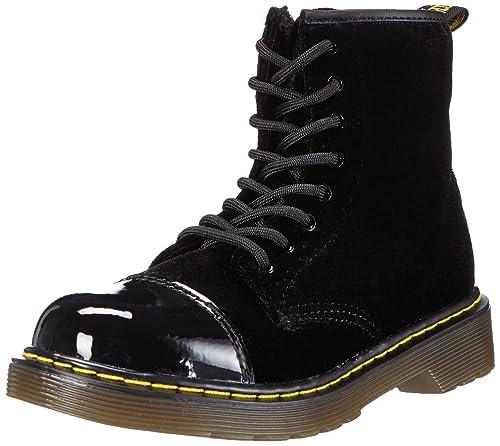 de99717648 Dr. Martens Kids' Pooch Ze You Velvet Black Boat Shoes: Amazon.co.uk ...