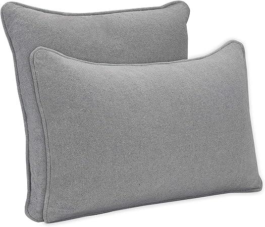 DYNMC you 2 x cojines de sofá con relleno y funda de algodón OEKO TEX de
