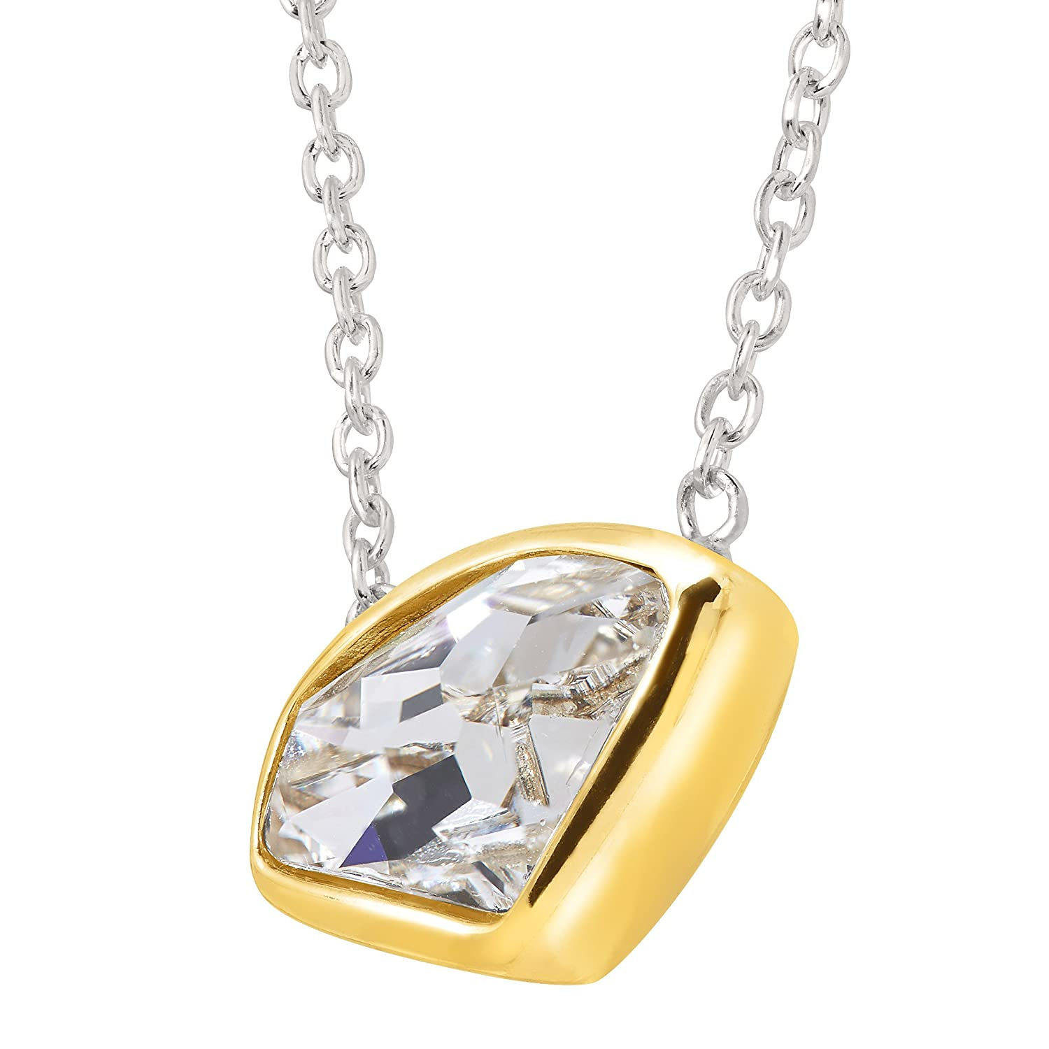 Silpada Dazzler Necklace with Swarovski Crystal in Sterling Silver Brass