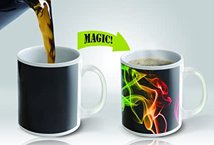 Heat Sensitive Mug | Color Changing Coffee Mug | Funny Coffee Cup | Smoke  Design 11oz