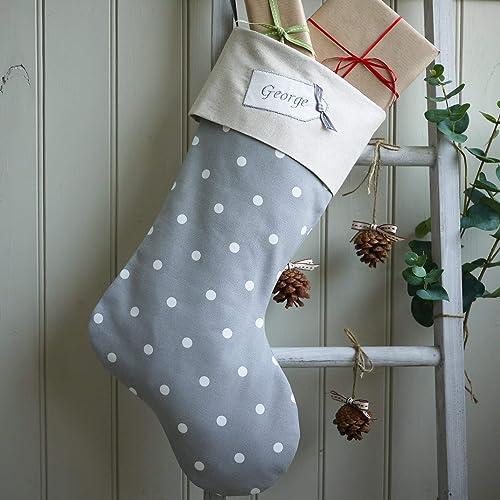 Grey Christmas Stockings Personalised.Grey Christmas Stocking Personalised Christmas Stockings