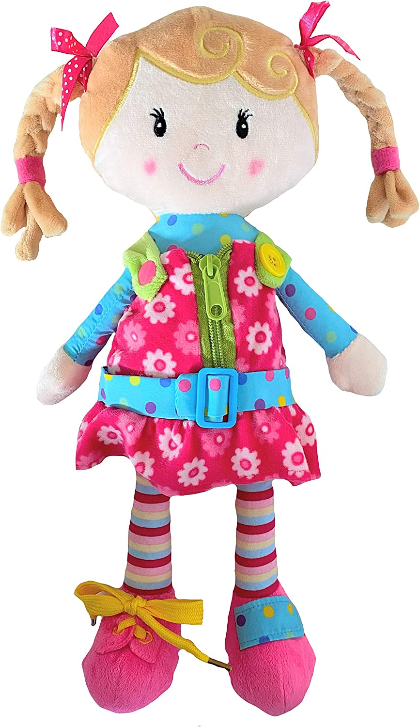 Snuggle Stuffs Sugar Snap 15 Activity Educational Doll for Toddlers Making Believe