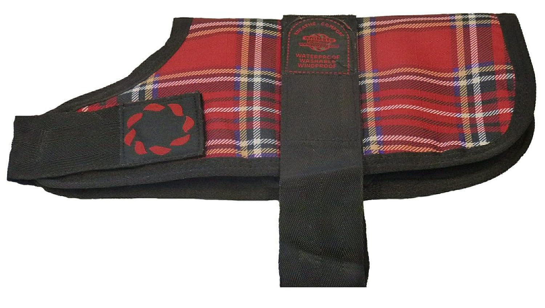 Outhwaite Chaqueta acolchada para perro, tela escocesa ...