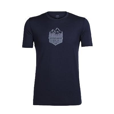 Icebreaker Crewe High Mtn Crest T-Shirt Homme, High Mtn Crest Sulfur, Grand