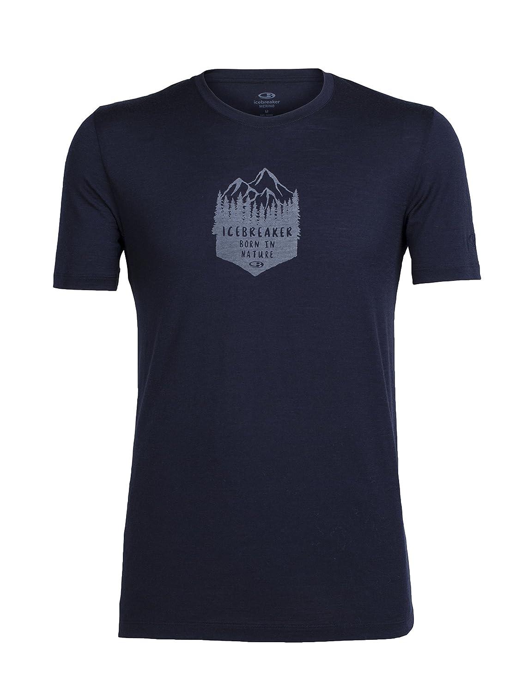 Icebreaker Herren Tech Lite Short Sleeve Crewe High MTN Crest T-Shirt