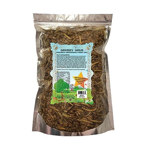Premium Hedgehog Food w/Dried Mealworms Superworms Crickets Silkworm Pupae Locusts