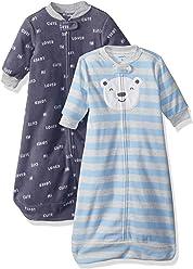 Carters Baby Boys 2-Pack Microfleece Sleepbag