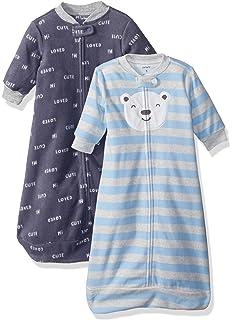 Amazon.com: Carters Baby Girls 2-Pack Microfleece Sleepbag ...