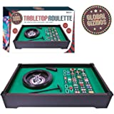 Table Top Roulette Wheel Set Home Casino Game Gambling Chips Balls Rake Complete Layout