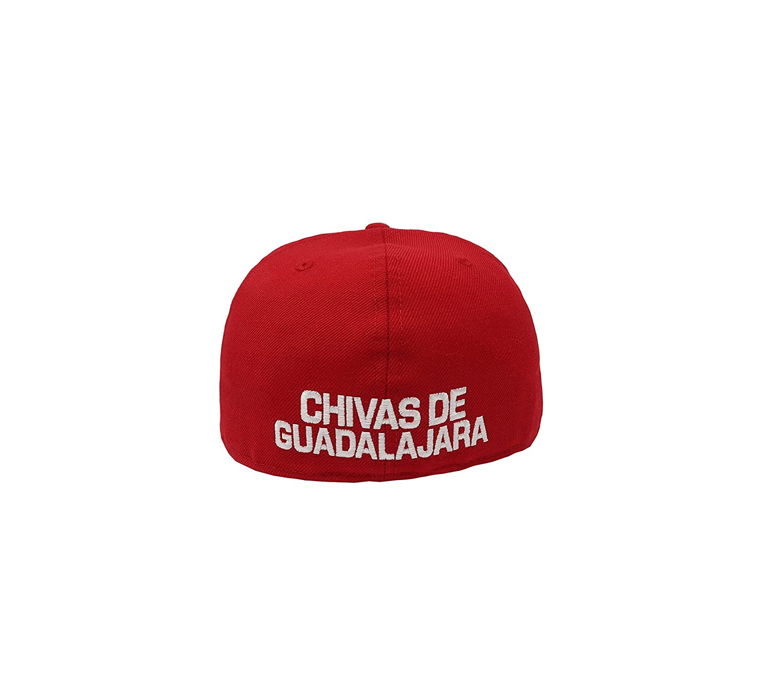 New Era 59Fifty Hat Chivas De Guadalajara Liga MX Soccer White/Red Fitted Cap at Amazon Mens Clothing store: