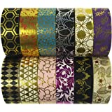Allydrew Washi Tapes Decorative Masking Tapes, Set of 12, ADSET56