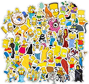 The Simpsons Film Theme Fans Stickers for Laptop Water Bottle Luggage Snowboard Bicycle Skateboard Decal for Kids Teens Adult Waterproof Aesthetic Stickers