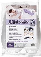 Travesseiro Minhocão 25X160, Fibrasca, Com Capa 100% Malha De Algodão Com Zíper, Branco