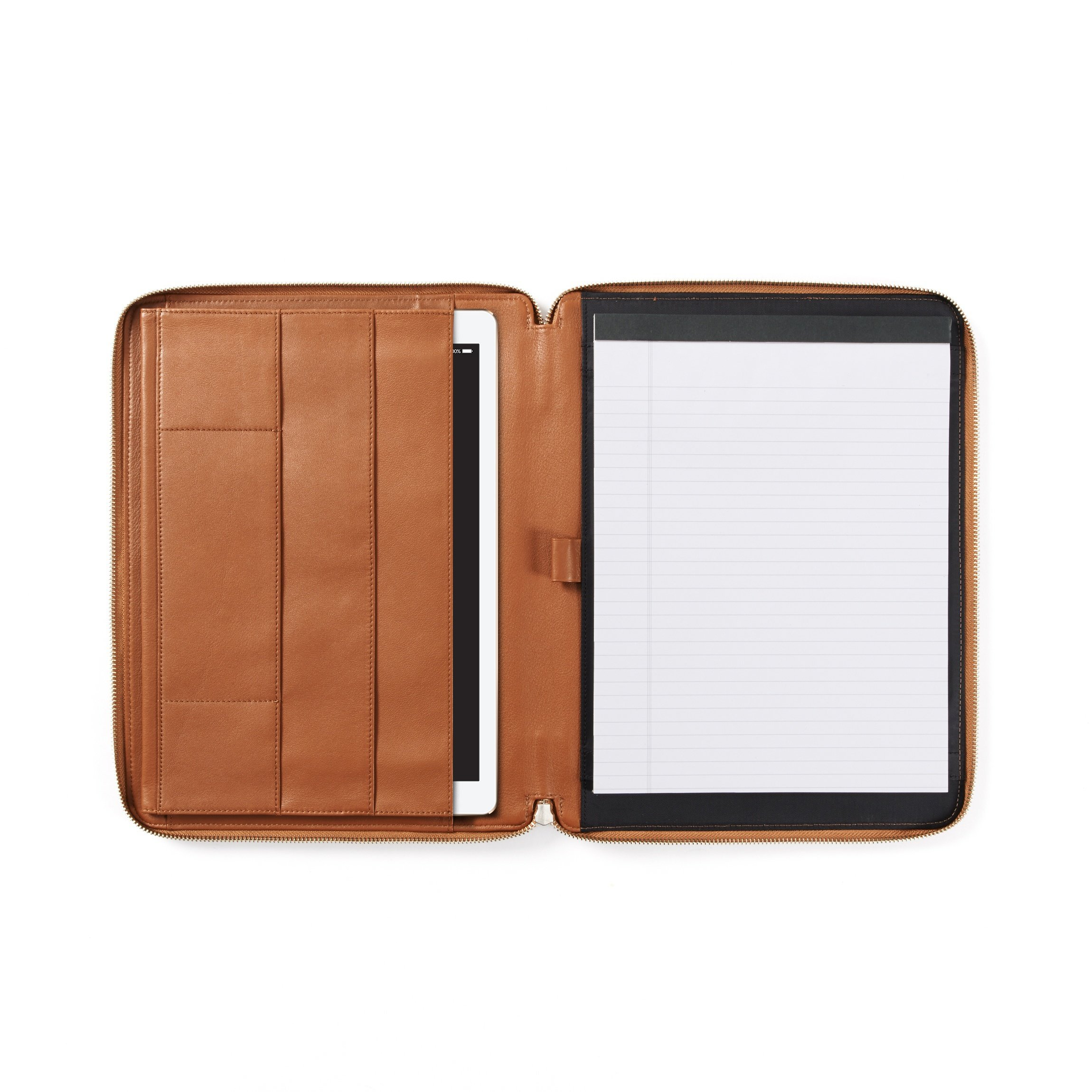12.9 Inch Ipad Pro Portfolio - Full Grain Leather - Cognac (brown)