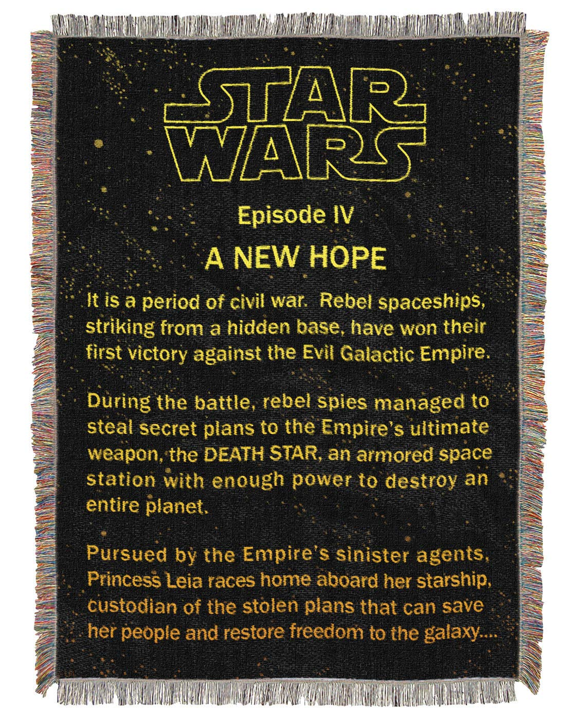 Northwest Star Wars A New Hope Opening Crawl Tapestry Throw Blanket 48' x 60' The Northwest Company